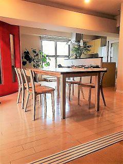 北海道産・白樺無垢材で作ったリビングテーブルです。<文京区H邸>