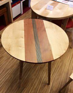 白樺無垢材のオリジナルテーブルです。